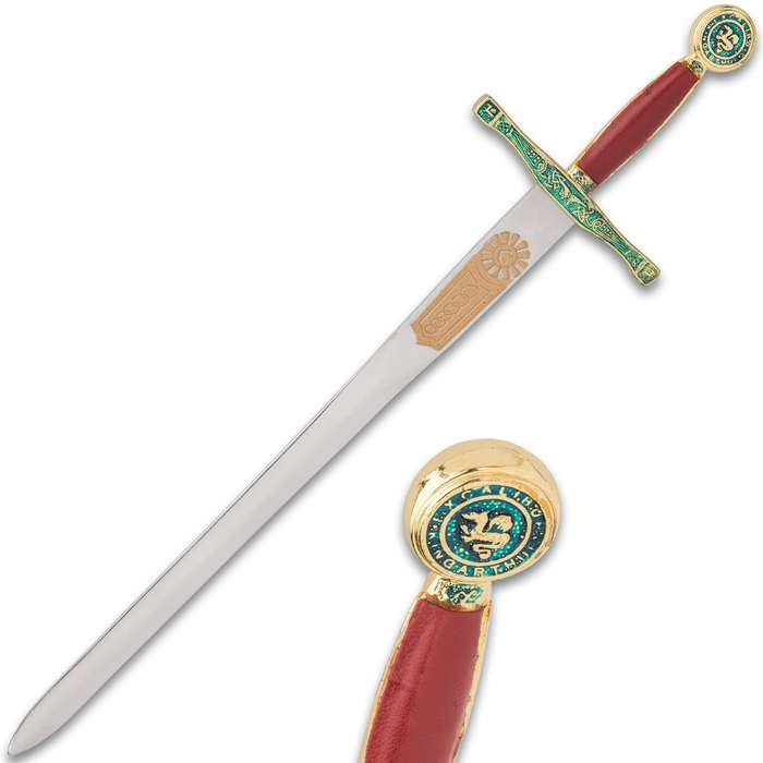Made in Toledo, Spain, a city with a centuries-long tradition of sword-making, this replica is the perfect accent for the home or office
