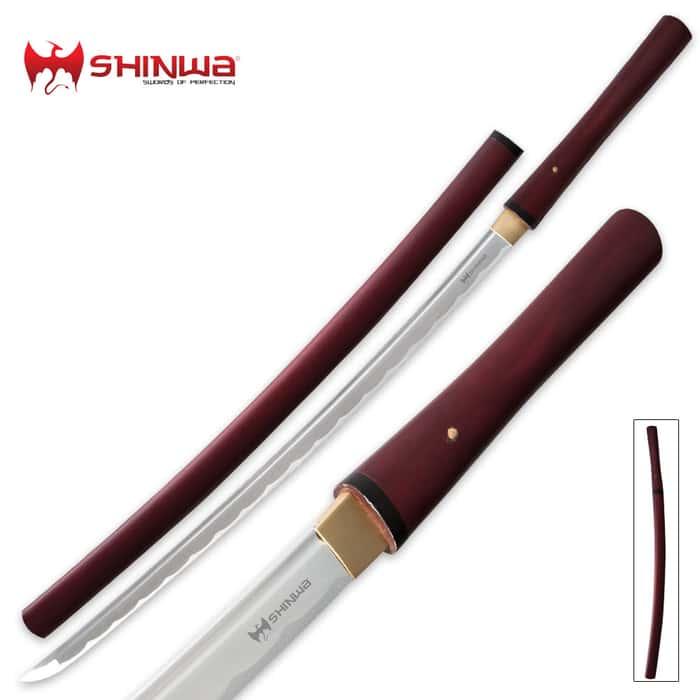 Shinwa Handmade Red Satin Shirasaya Sword