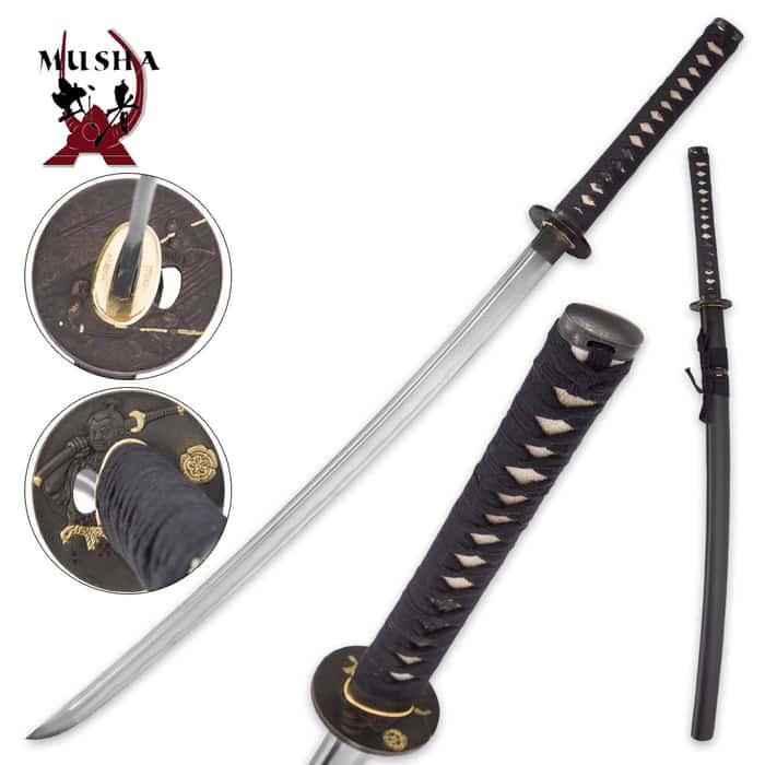 Musha Forged Samurai Sword With Ray Skin Handle