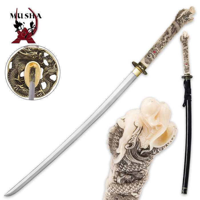 Open Mouth Dragon Hand-Forged Sword
