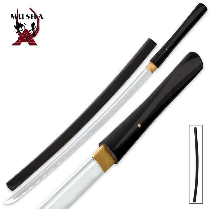 Black Shirasaya Musha Bushido Sword