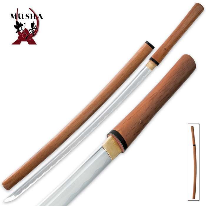 Musha Bushido Natural Wooden Shirasaya Sword