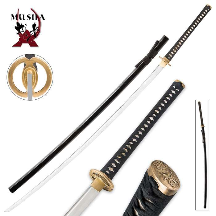 Hand Forged 1045 Carbon Steel Samurai Odachi Sword With Scabbard