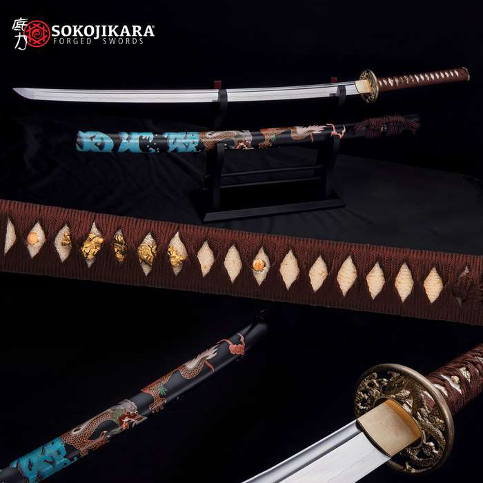Literally a handcrafted masterpiece from blade to scabbard, it has been forged and painted by master smiths and artists