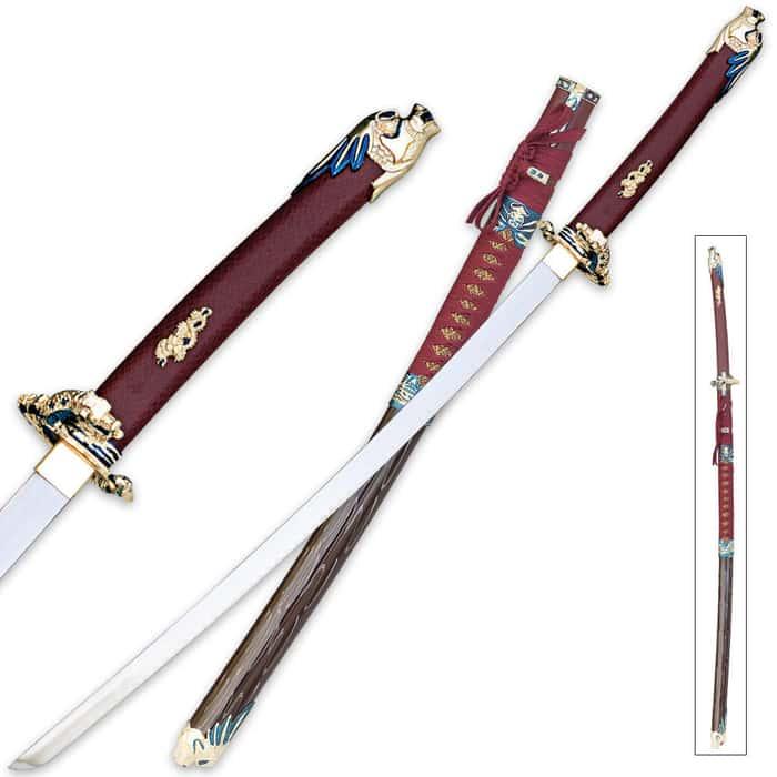 Oda Nobunaga Red Katana Sword