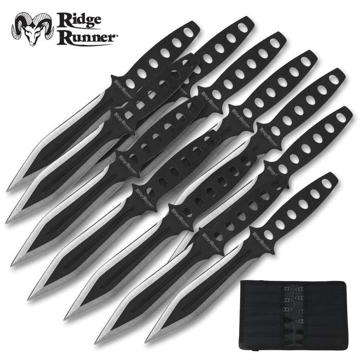 Ridge Runner 12 Piece Tornado Throwing Knives