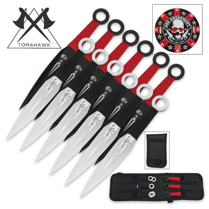 Second Amendment Throwing Knife Set