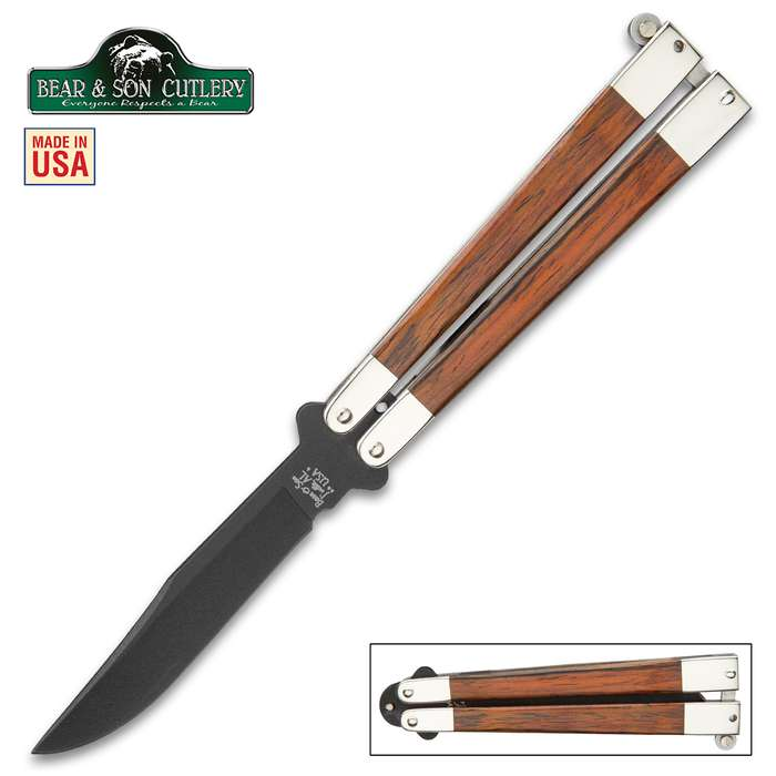 Bear & Son Cocobola Butterfly Knife