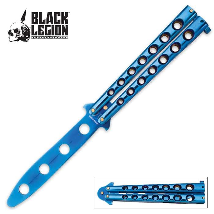 Black Legion Balisong Butterfly Trainer Knife - Blue