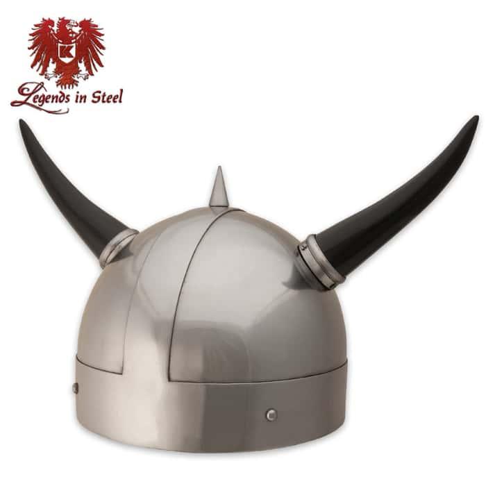 Legends In Steel Viking Replica War Helmet With Horns