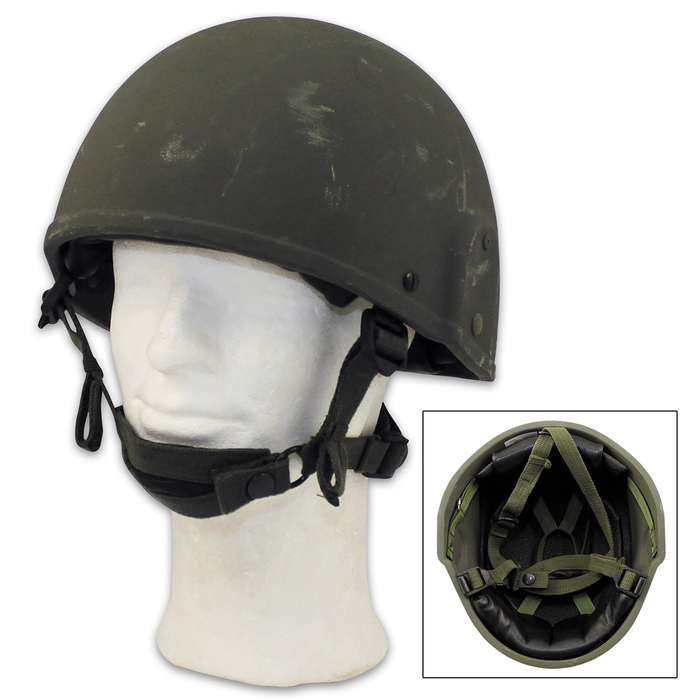 The British Military GS MK6 OD Helmet was the standard issued to the British Armed Forces from the 1980s to 2005