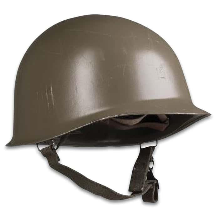 Austrian OD M1 steel helmet