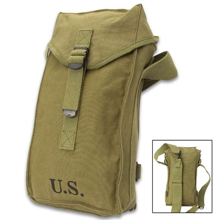 The Military Combat Bag has a tried and true design that is still perfect for carrying and organizing modern-day gear and supplies