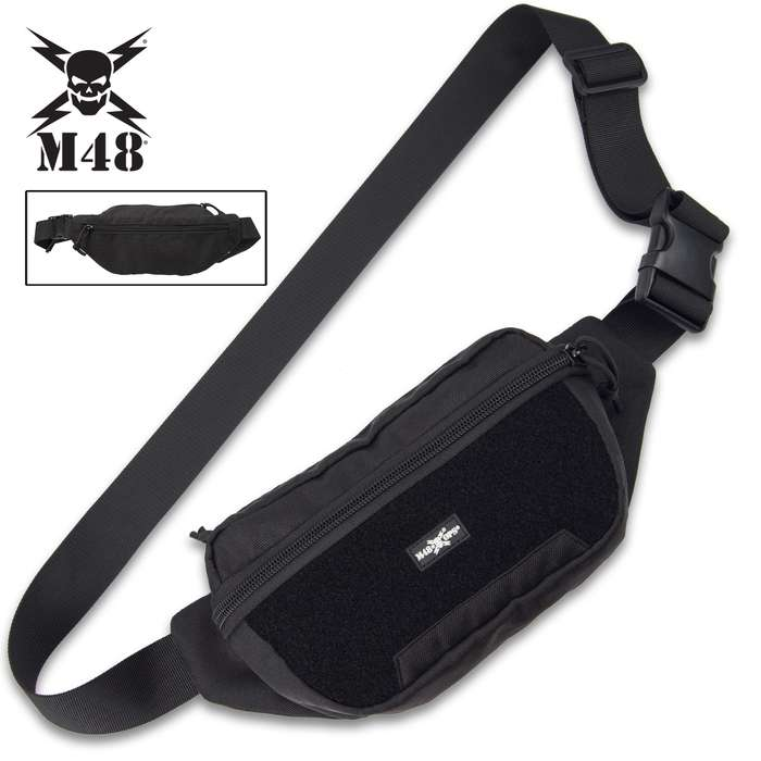 """The 9""""x 6"""" Tactical Waist Bag is the perfect size to carry your small essentials securely close to you without being too bulky"""