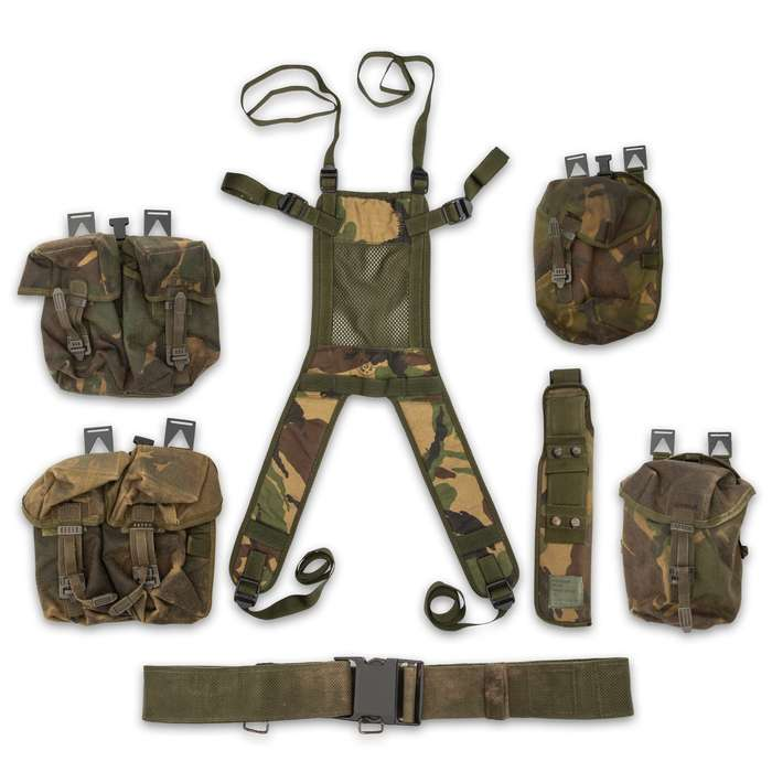 The Great Britain Military Surplus Harness And Gear Bag Set makes a great addition to your hunting, tactical or gun range gear