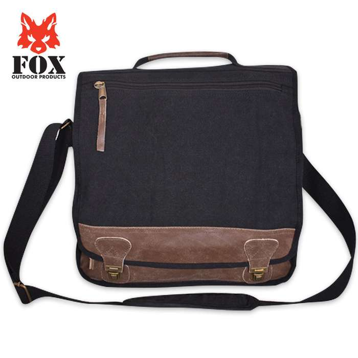 Classic Euro Style Canvas & Leather Messenger Bag