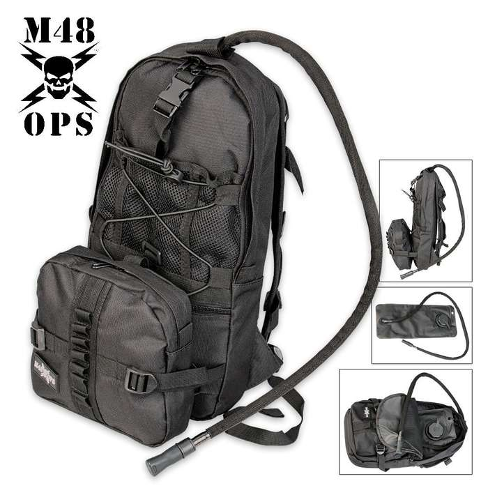 M48 OPS Hydration Bag With Bladder Black