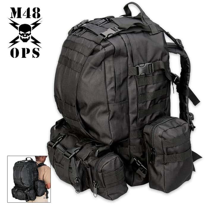 M48 OPS Gear Assault Pack Black