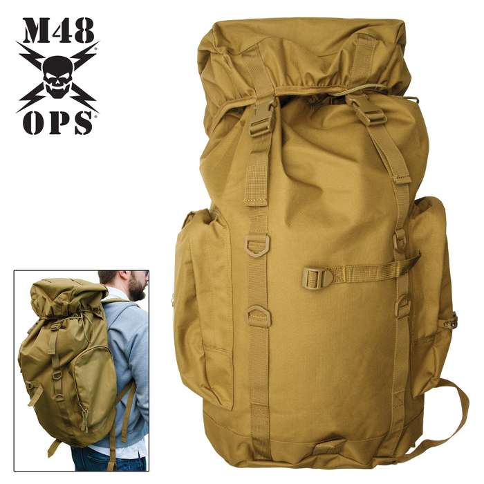 The immense, 45L main compartment can hold just about everything, making it great for camping, hiking and traveling