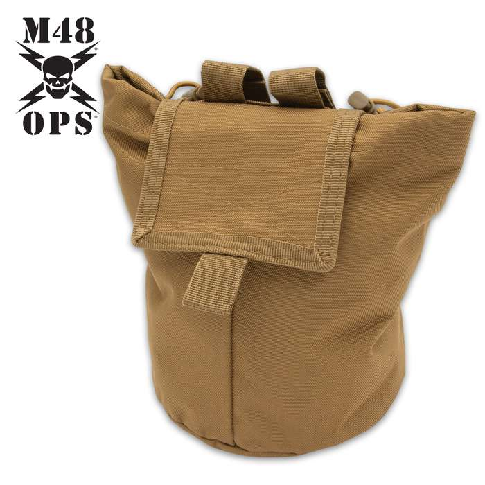 Perfect from the range to the field, this MOLLE dump pouch attaches easily to tactical vests and offers a simple storage option