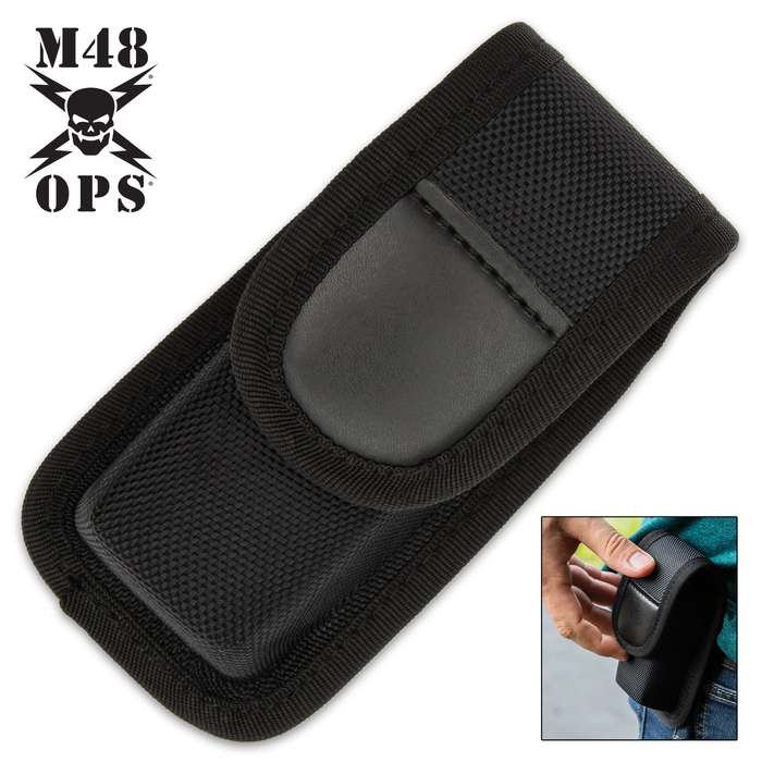The M48 Small Pepper Spray Holder is ideal for law enforcement officers (LEO) and public safety professionals