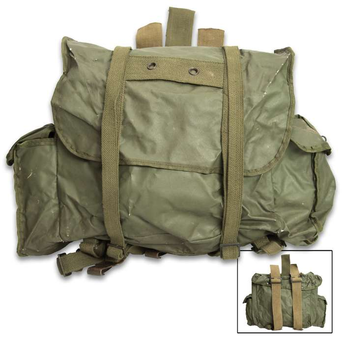 Our Belgium OD Small Rucksack is a quality, used military surplus bag that is great to carry your daily gear from home to work when the weather is wet