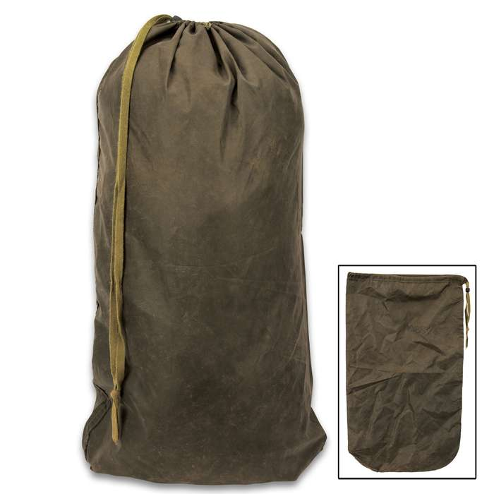 This military surplus British OD Water-Resistant Bag is great for a variety of uses from camping to outdoor recreation