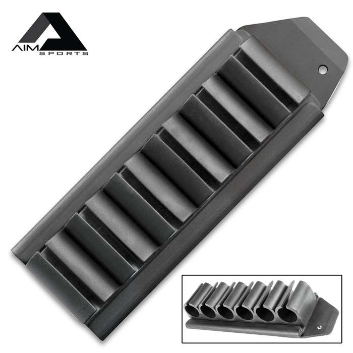 """Mossberg Six-Round Side Shell Carrier Kit - Aluminum And Polymer Construction, Quick-Detach Design - Length 7"""""""
