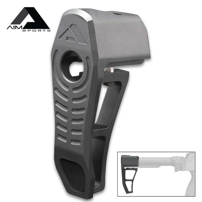 AIMS Micro Battle Stock - 6061 Aluminum Construction, Compact And Lightweight, Steel Mounting Hardware, Two Fixed Positions