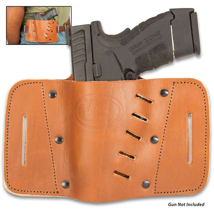 The Western-style US Cavalry Pistol Holster is handsome and perfectly suited to securely carry your pistol, giving you quick and easy access to it