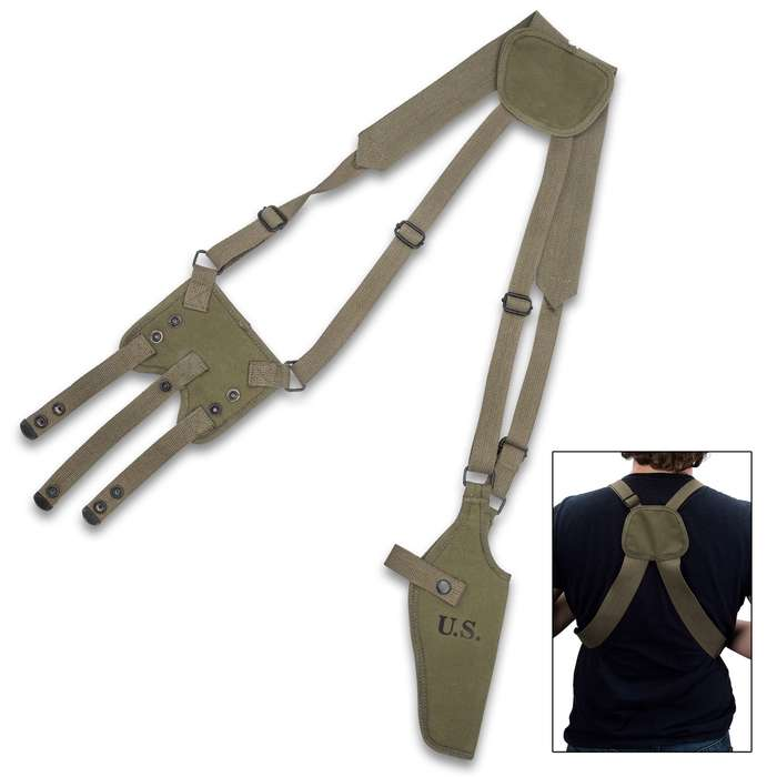 This shoulder holster is tough and perfectly suited to securely carry your pistol, giving you quick and easy access to it