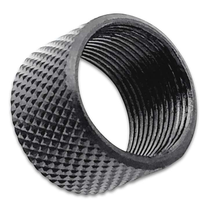 """Protect your .578""""-28 RH pistol threads with this premium knurled thread protector for years to come"""