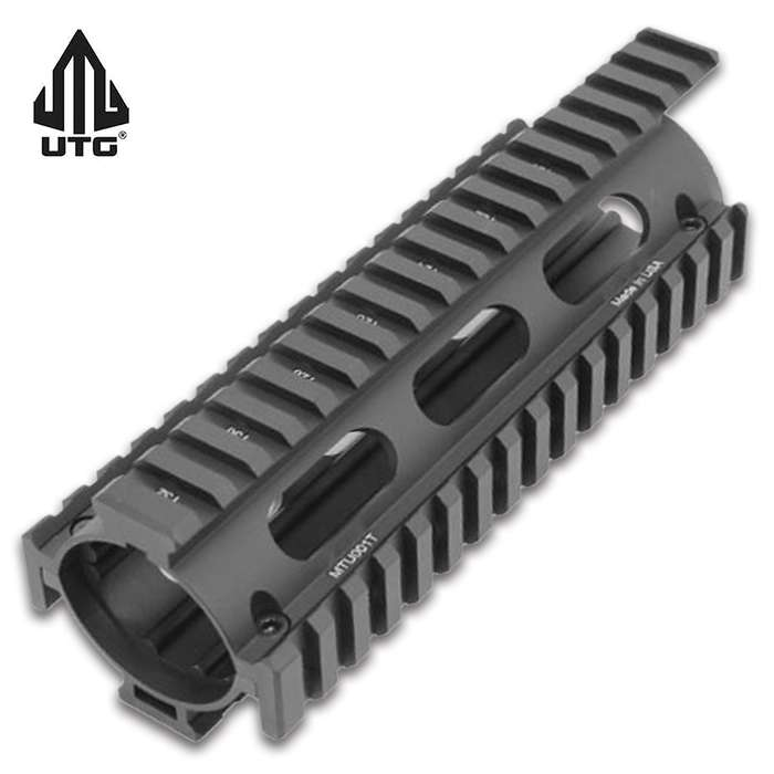 This Quad Rail With Extension allows for easy installation with absolutely no modification to the barrel