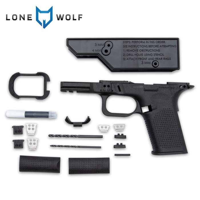 The Timberwolf Compact frame from Freedom Wolf fits in your hand like a much smaller pistol and is versatile for any use