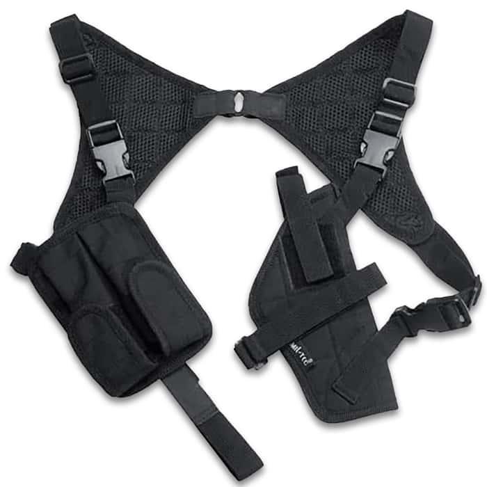 Black shoulder holster