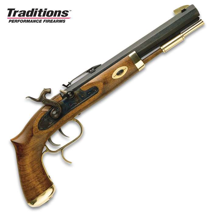 Trapper Classic Muzzleloading Pistol - Blued Barrel, Select Hardwood Stock, 50 Caliber, Percussion Ignition - Length 15 1/2""