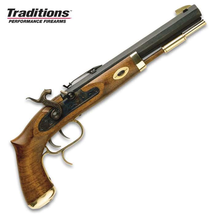 "Trapper Classic Muzzleloading Pistol - Blued Barrel, Select Hardwood Stock, 50 Caliber, Percussion Ignition - Length 15 1/2"""