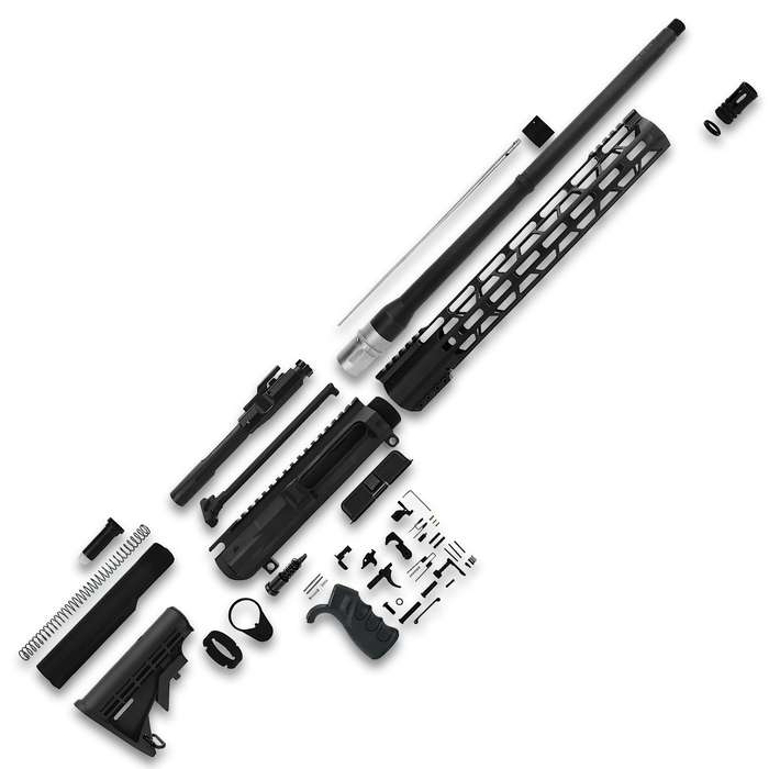 """TacFire 18"""" Unassembled .308 Win Rifle Build Kit contains all the parts you need to custom build your own 18"""" barreled rifle"""
