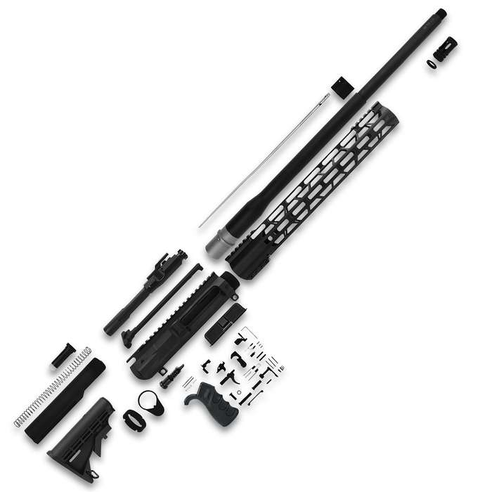 The TacFire .308 Win Rifle Build Kit has anodized aluminum and steel parts