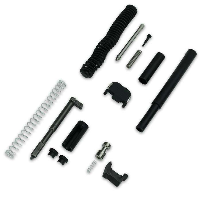 This incredible Glock Slide Completion parts kit is exactly everything you need to finish up your custom pistol build