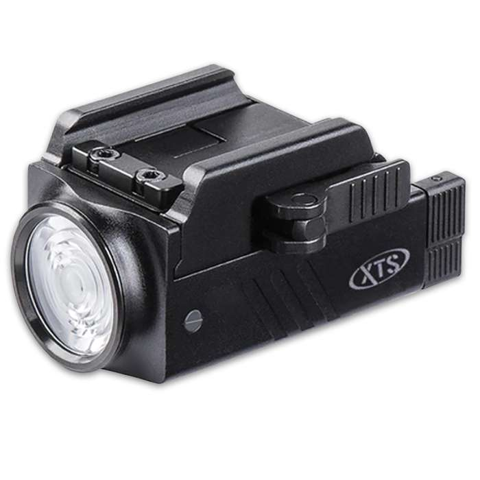 The 800-Lumen Pistol Flashlight provides an excellent high-quality source of light and it also has a strobe feature