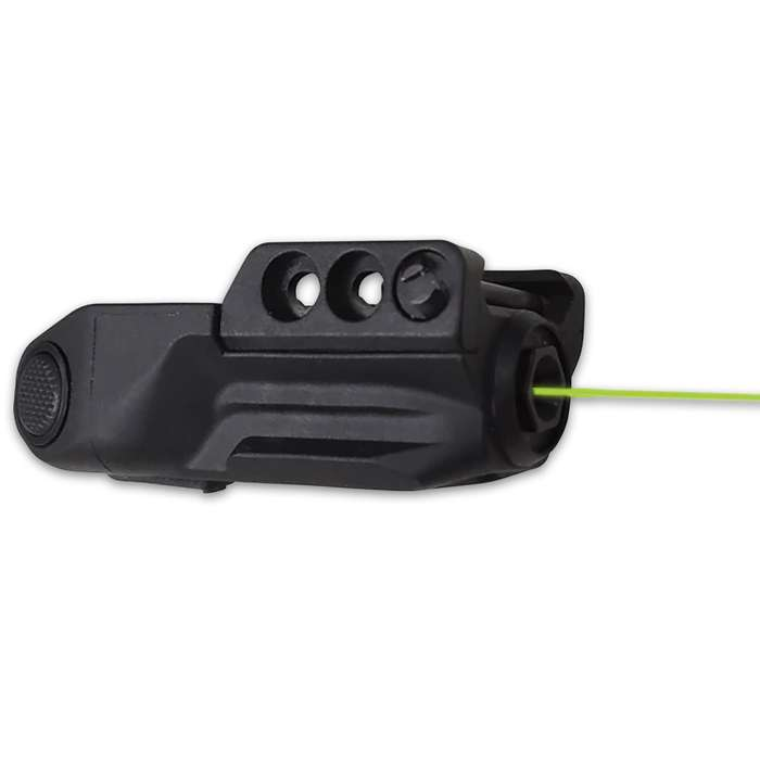 With its sleek and compact design, this Green Laser Sight is a must-have for your weapon