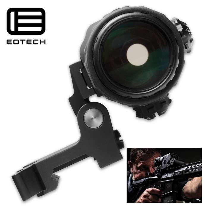 Chosen and trusted by the U.S. Armed Forces, the magnifier mounts directly behind an EOTECH Holographic Weapon Sight