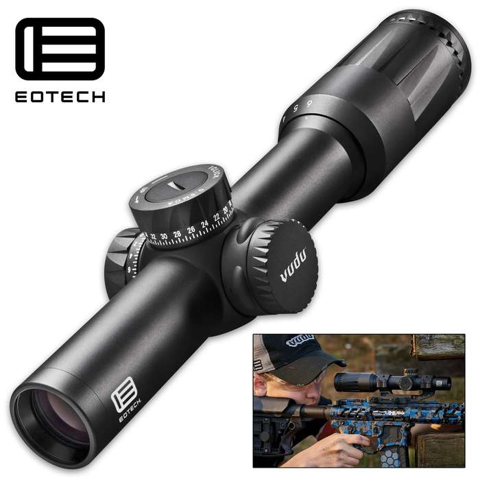 Created with the avid three-gun competitor and serious hunter in mind, the EOTECH Vudu 1-6x24 scope is compact, yet fully loaded