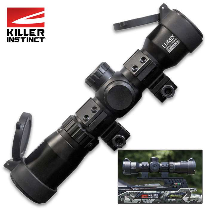 The Killer Instinct LUMIX 1.5-5x32 IR-E Crossbow Scope is the elite, high-performance crossbow scope that you've been looking for