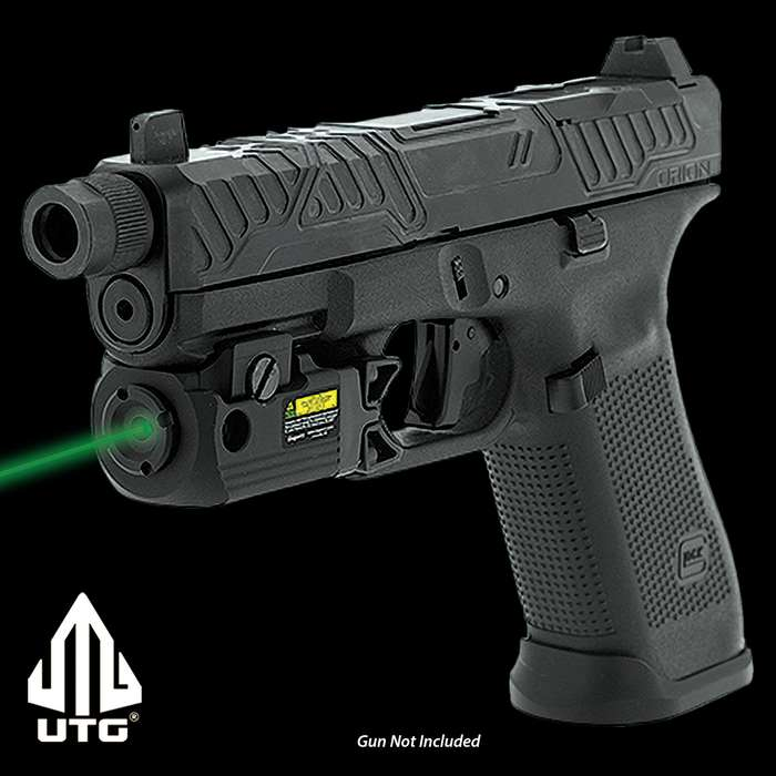 The Compact Ambidextrous Green Pistol Laser offers both constant and momentary on/off functions, giving you versatility in the field