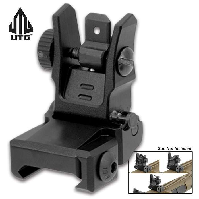 With dual apertures, this sight is ideal for moving target engagements and limited visibility or normal firing situations