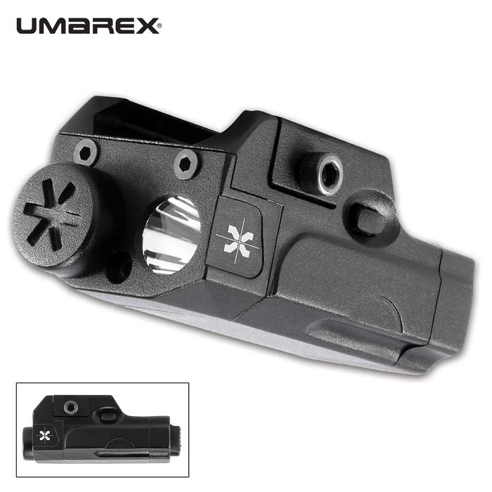 The Axeon MPL1 Mini Pistol Light has a compact design that makes it compatible for a variety of firearms
