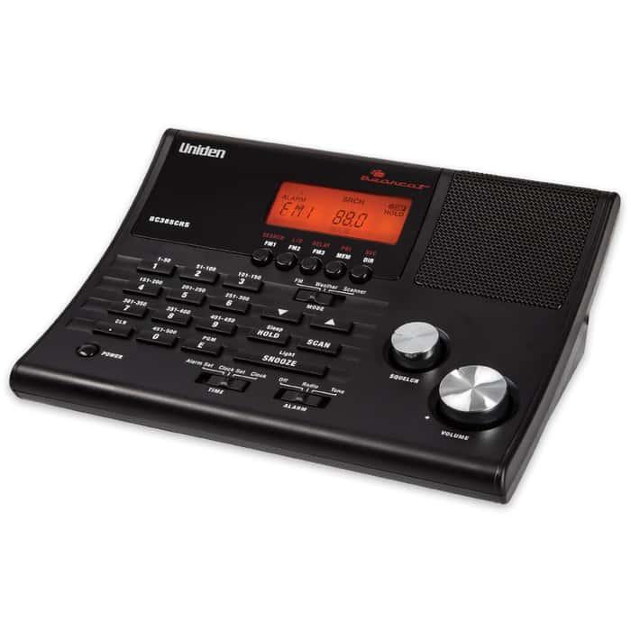 "Uniden BC365CRS ""Bearcat"" 500-Channel Scanner / Weather Alert / Alarm Clock"