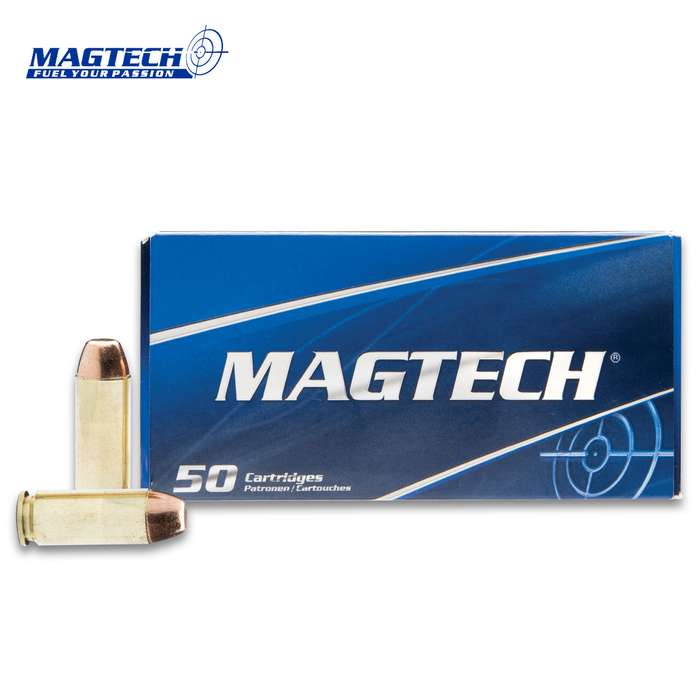 Magtech Sport 10MM Full Metal Jacket Ammo - 50-Count - Brass Case Boxer Primed, Reliable Powder Ignition, Non-Corrosive Primers